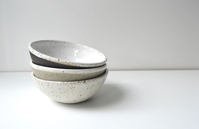 Renee Boyd ceramic bowls on a table.