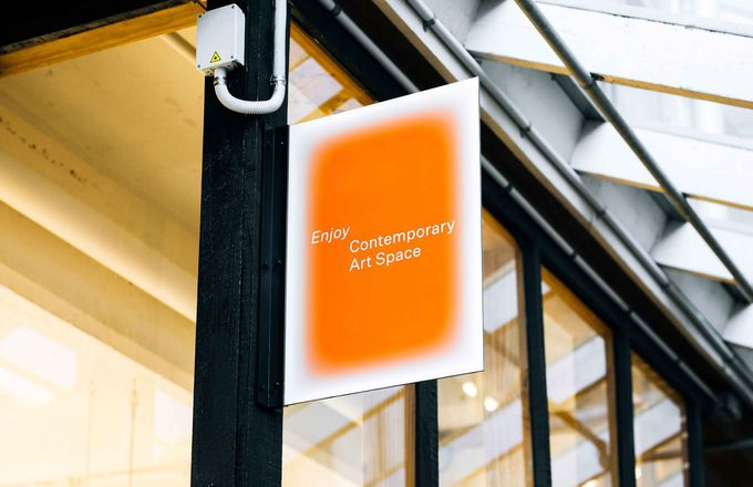 Sign for Enjoy Contemporary Art Space.