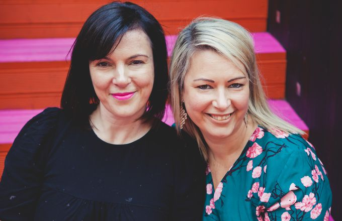 A photo of Robyn Mclean and Mary Bond from Hello Cup