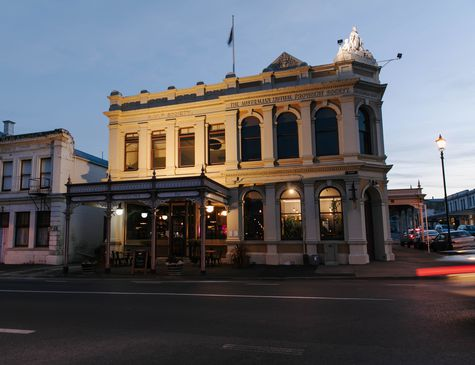 The exterior of Cucina building in Oamaru.