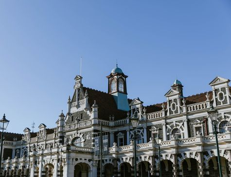 The Dunedin Railway Station.