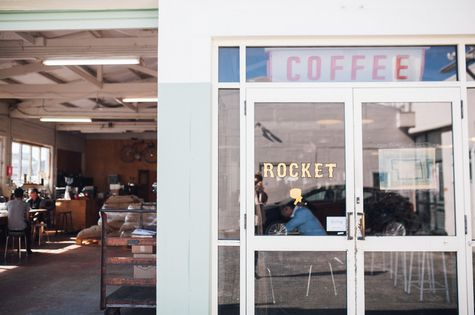 Entrance to Rocket Coffee.