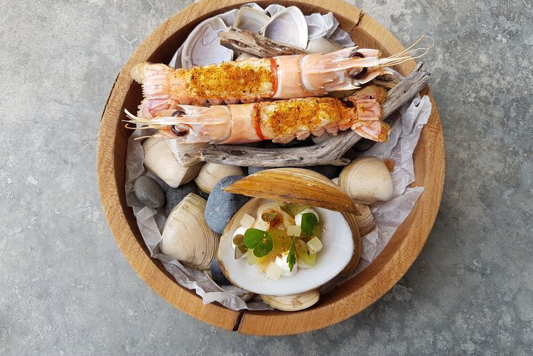Seafood on a plate.