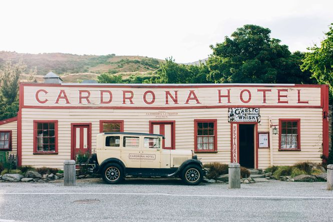 The outside of the Cardona Hotel building.