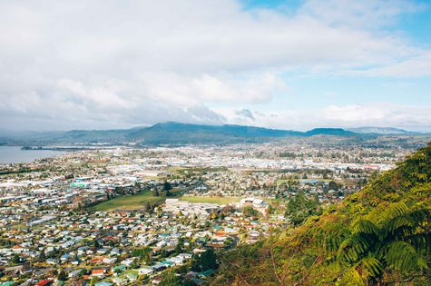 The view looking down in Rotorua.
