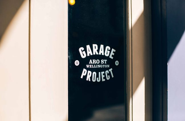 Close up of a Garage Project sign.