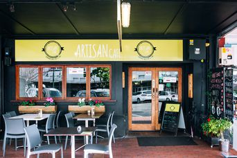 Entrance to Artisan cafe.