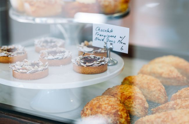 Close up of pastries.