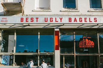 Best Ugly Bagel front sign.