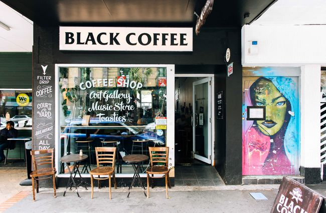 Exterior view of Black Coffee.