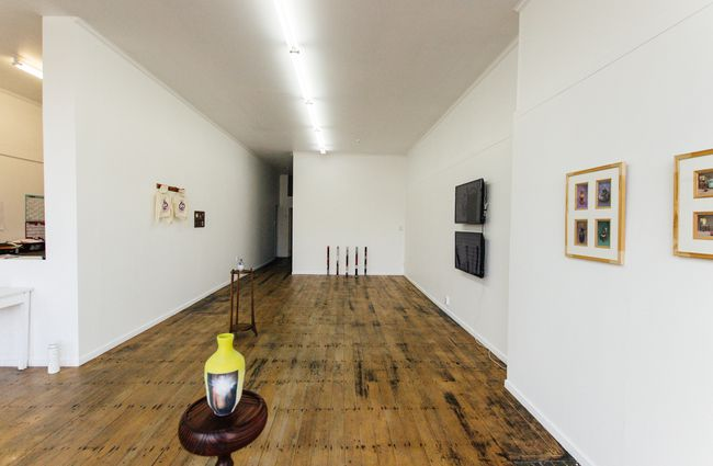 A photo of the interior of the art gallery.