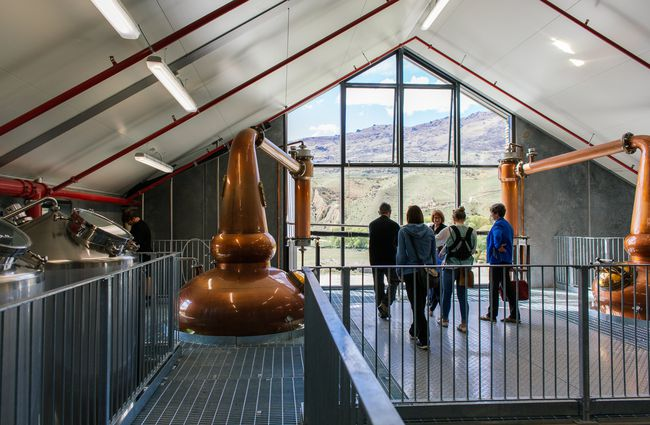 A distillery tour taking place.