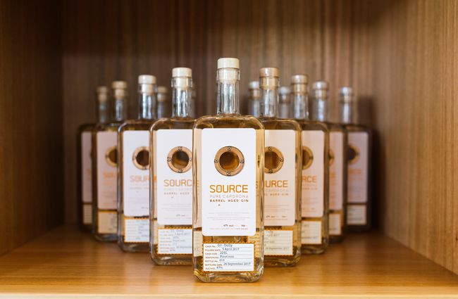Bottles of Source Gin.