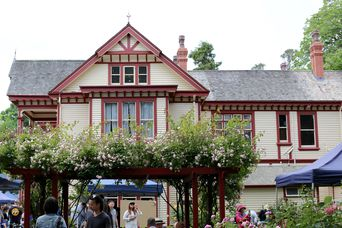The historic house in the farmers market.