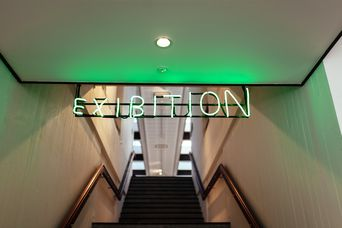 Entrance to an exhibition.