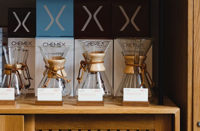 Chemex for sale at Coffee Supreme Midland Park, Wellington.