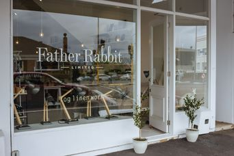 The entrance to Father Rabbit.