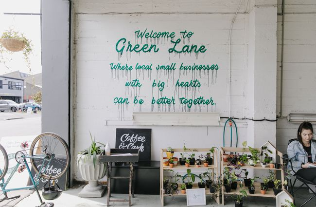 Wall signage at Green Lane Market.