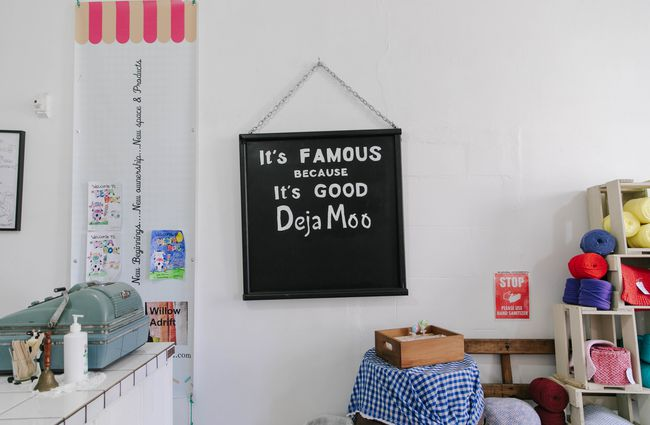 Sign on the wall at Deja Moo.