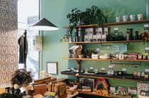 Shelves stocked with beautiful gifts and homewares.