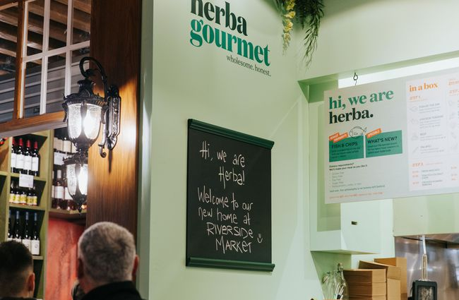 Signage at Herba Gourmet.
