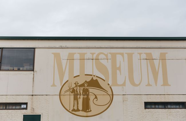 The exterior of the moonshine museum building.