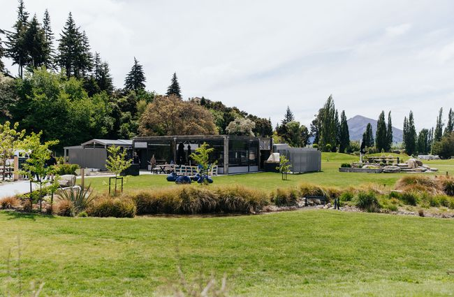 The exterior of the Hook Wanaka restaurant.