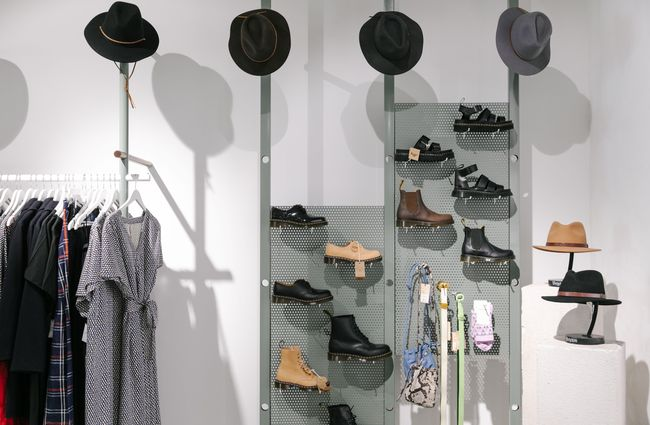 Shoes and hats at Infinite Definite.