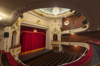 The empty auditorium at Isaac Theatre Royal Christchurch.