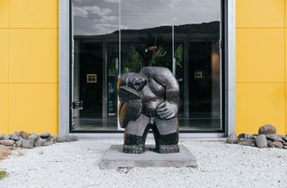 A sculpture outside the gallery.