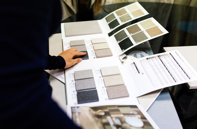 Designers looking at fabric swatches.