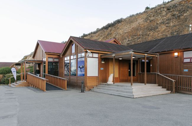 Exterior of the blue penguin colony experience.