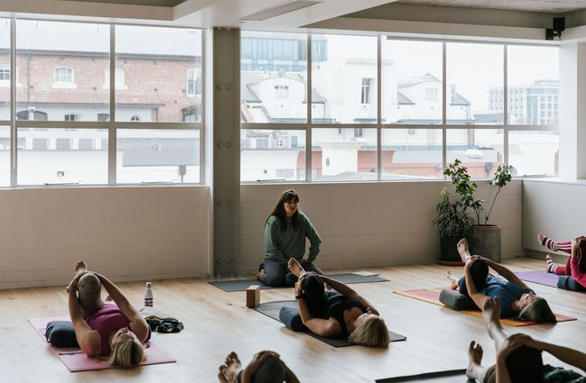 A yoga class in action at O-Studio.