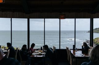 The ocean view from inside the Oyster Cove restaurant.