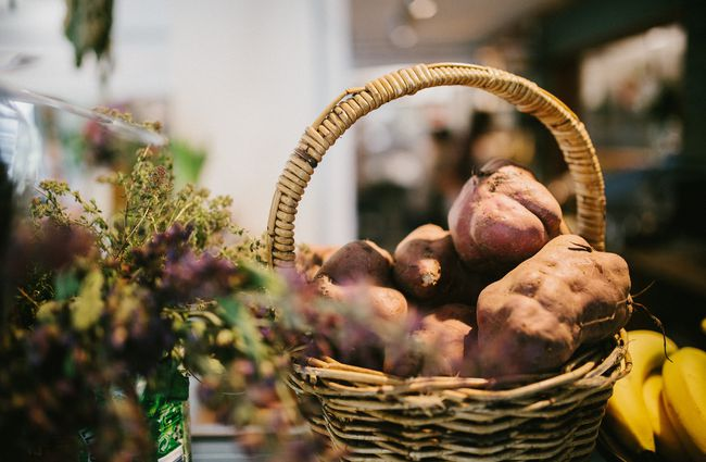 Kumara in a basket.