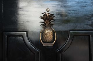 Pineapple door knocker.