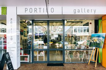 Entrnace to Portico Gallery.