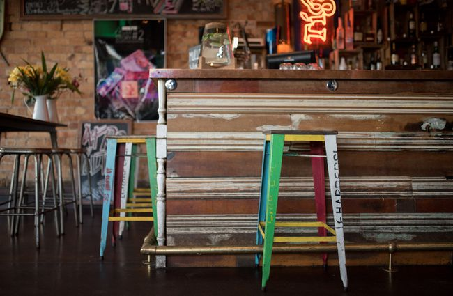 Colourful stools.