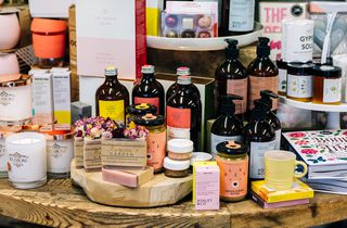 Soaps and gifts on display at Punnet Eatery, Hamilton.