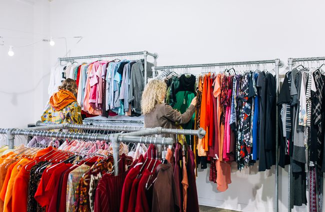 Customers look for clothes at Recycle Boutique, Hamilton.