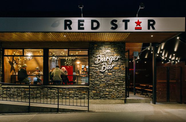 The main entrance to Red Star Burger.