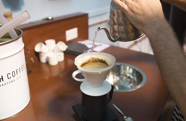 A coffee being made.