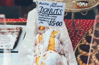 Filled donuts.