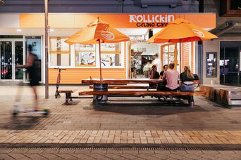 Rollickin's new Cashel St location is a late night dessert venue.