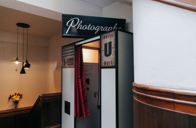 A photo booth.