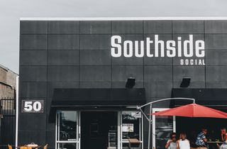 The building exterior of Southside Social cafe Christchurch, New Zealand.
