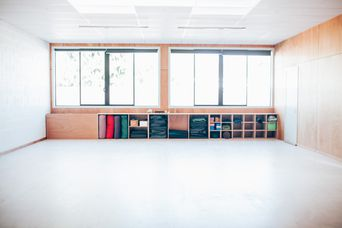 The spacious studio with natural light.