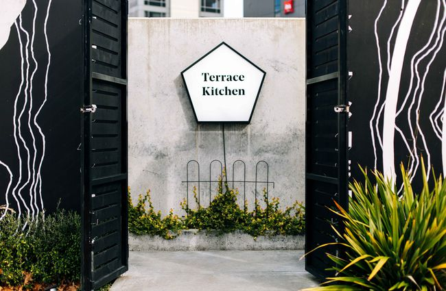 Entrance to Terrace Kitchen.