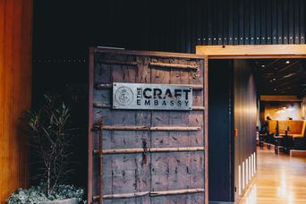 The entrance to The Craft Embassy bar Christchurch.