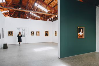 The gallery space.